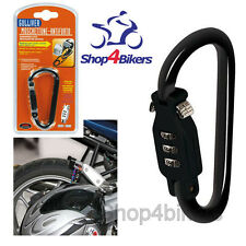 Motorcycle scooter motorbike helmet lock karabiner combination lock black Lampa