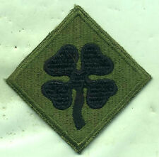 Early Vietnam Era US Army 4th Army Subdued Patch Cut Edge