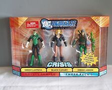 DC Universe Crisis Green Lantern Black Canary Green Arrow Action Figures 3 Pack
