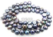 "SALE 4-5mm Natural Black Freshwater BAROQUE Pearl Loose Beads 14""-los455"
