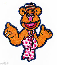 "2"" MUPPETS  FOZZY FOZZIE BEAR  MINI CHARACTER FABRIC APPLIQUE IRON ON"