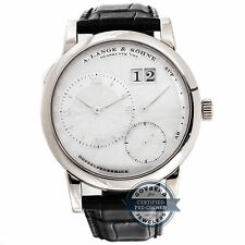 A. Lange & Sohne Lange 1 Soiree 110.030 Manual White Gold MOP Mens Watch Date