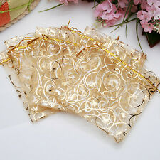 9x11cm 100pcs Jewelry Candy Organza Pouch Bags Wedding Party Favor Gift