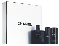 CHANEL BLUE De CHANEL 3 Piece Gift Set (3.4 oz EDT & 2 oz Deo, 0.7 oz Travel Sp)