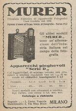 Z2087 MURER apparecchi fotografici pieghevoli - Pubblicità d'epoca - Advertising