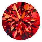 1.8 Mm Round Cut Fancy Cognac Red Color Loose Natural VVS Diamonds Wholesale Lot
