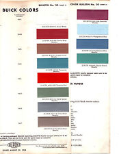1959 BUICK LE SABRE INVICTA ELECTRA RIVIERA 4300 SERIES 59 PAINT CHIPS DUPONT 2