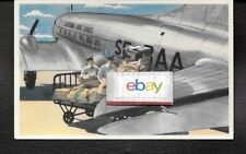 ABA SWEDISH AIR LINES AEROTRANSPORT 1943 DOUGLAS DC-3 AIRLINE ISSUE POSTCARD