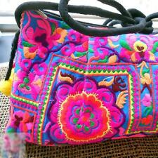 Women Ethnic Embroidered Hippie Boho Sling Crossbody Bag Hmong Purse Cluth Bag