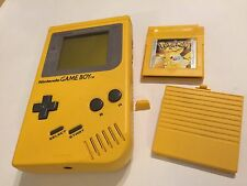 ORIGINAL NINTENDO GAME BOY GBC NGB YELLOW CONSOLE Inc Ext CAP & POKEMON GAME GWO