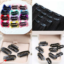 50Pcs 28mm Black U Shape Snap Metal Clips For Hair Extensions Weft Clip-on SS