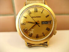Vintage1960's BULOVA ACCUTRON 14k Gold Filled Men's Quartz Watch #G62407 M9