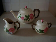 "FRANCISCAN ""DESSERT ROSE ""  5PC TEA POT SET"