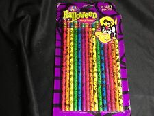 LISA FRANK Vintage HALLOWEEN PENCIL 15 Scary Party Favors UNUSED Eraser NEON