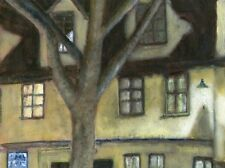 Terry George painting of Elm Hill in Norwich at night