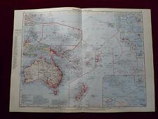 Landkarte von Australien und Ozeanien, Carl Wagner, 1941
