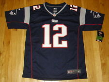 NEW 2014 NIKE TOM BRADY BLUE NEW ENGLAND PATRIOTS #12 YOUTH NFL REPLICA JERSEY L