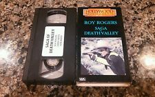 SAGA OF DEATH VALLEY RARE VHS TAPE! NICE BOX! 1939 WESTERN CLASSIC! ROY RODGERS