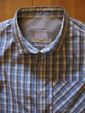 Fat Face mens long sleeve blue & grey check cotton shirt size L