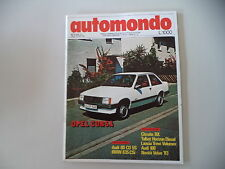 AUTOMONDO 10/1982 BMW 635 CSI/AUDI 80 CD 5S/100/OPEL CORSA/CITROEN BX