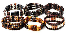 5 pcs Wholesale Lots Jewelry Mixed Style Wood Beads Stretchy Bracelets
