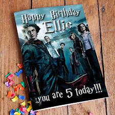 Tarjeta De Cumpleaños Personalizado De Harry Potter! envío Gratuito! alta Calidad de la calle!