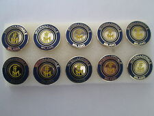 lotto 10 pins lot INTER FC club spilla football calcio soccer broches spille