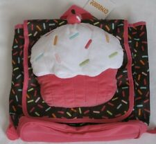 Gymboree Girls Cupcake Backpack Pink Brown Purse Book Bag Plush Cake NEW Girls