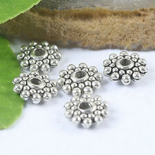Tibetan Silver Daisy Spacers Beads 40 pcs H0023