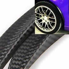"""For VW Wheel Wall Panel 1 Pair 13"""" Carbon Texture Diffuser Fender Flares Lip"""