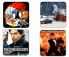 The Living Daylights Mug Coaster Set James Bond Timothy Dalton 4 Coasters