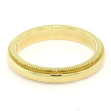 Authentic Tiffany & Co. 18K Yellow Gold 3.0mm Milgrain Wedding Band Ring Sz 4.5