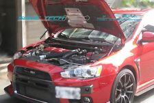 Mitsubishi Evolution X EVO 10 CZ4A Silver Carbon Strut Lift Hood Shock Damper