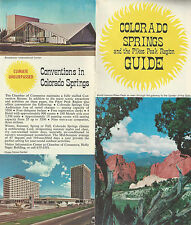 Colorado Springs Colorado Vintage Travel Brochure Color Photos Map Events Tours
