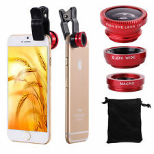 3 in1 Fish Eye Wide Angle Macro Camera Lens Fisheye Clip For iphone 4 5s 6 plus