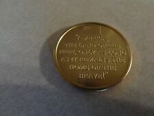 CHALLENGE COIN OLDER PRIVATE COLLECTION AMERICA LAND OF THE FREE GOD LOVED WORLD