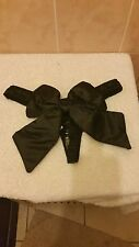 Ann Summers Gift Wrapped Satin Black Thong Size Small 8 - 10  New In Packet
