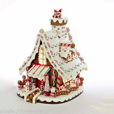 Gingerbread Candy Christmas House w Icing Roof 12in clay dough NEW ka j3628