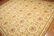 9x12 AS IS HAND WOVEN FRENCH NEEDLEPOINT AUBUSSON AREA RUG NEW
