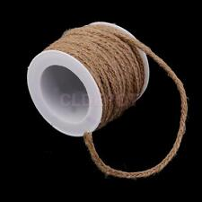 5M Natural Hessian Rope Burlap Ribbon DIY Craft Vintage Wedding Party Decor