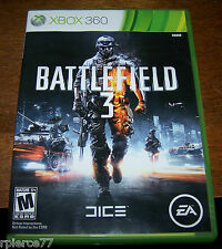 X-BOX 360 - BATTLEFIELD 3 - w/2 discs - Rated M - EUC!