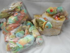 "One Dozen ""RAINBOW"" Beanie Baby Chameleon by Ty, Inc- Multicolored - New/Retired"