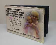 Personalised photo album, Memory book, birthday or christmas gift Sister Auntie.
