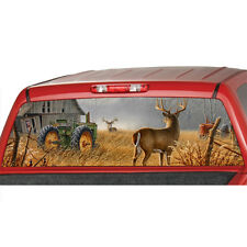 Farm Deer Window Graphic Tint Decal Sticker Truck tractor John Deere Countrylife