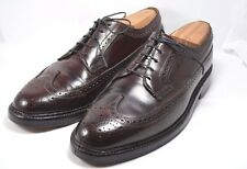 Vintage Florsheim Imperial 93605, Shell Cordovan Long Wing Wingtips Sz 8 D