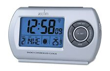 Radio Controlled Alarm Clock  DIgital LCD Split Second Accuracy Acctim Denio
