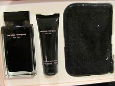 Narciso Rodriguez for Her 3-Pc. Set 3.3oz EDT Spray/Body Cream/Sequin Pouch NIB