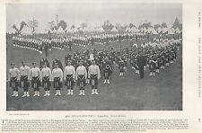 1896 MILITARY PRINT : 48th HIGHLANDERS-CANADIAN ACTIVE MILITIA