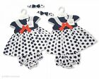 "Early Baby/Reborn Pretty ""Polka Dot"" DRESS Set. NWT. 0-3, 3-6, 6-9m"