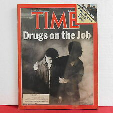 Drugs on the Job Time Magazine Ronald Reagan Contra Aid March 17 1986 VERY RARE!